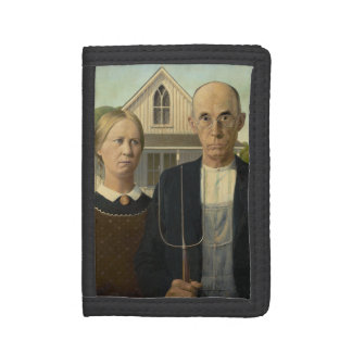 GRANT WOOD - American gothic 1930 Trifold Wallet