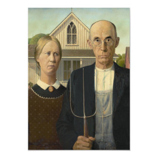 Grant Wood - American Gothic Card