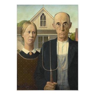 Grant Wood - American Gothic Card