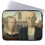 Grant Wood - American Gothic Computer Sleeve