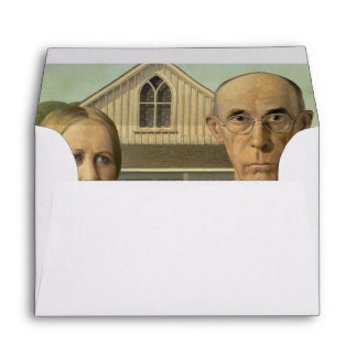 Grant Wood - American Gothic Envelope