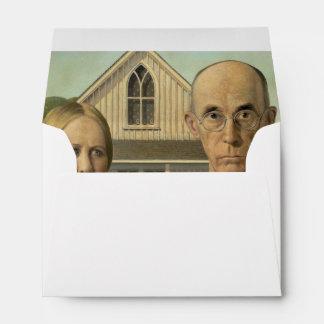 Grant Wood - American Gothic Envelopes