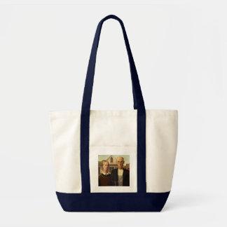 Grant Wood American Gothic Fine Art Painting Impulse Tote Bag