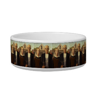 Grant Wood American Gothic Fine Art Painting Bowl