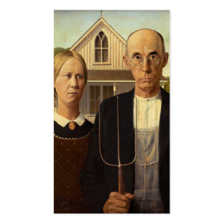 Grant Wood American Gothic Fine Art Painting Business Card Template