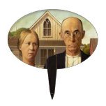 Grant Wood American Gothic Fine Art Painting Cake Topper