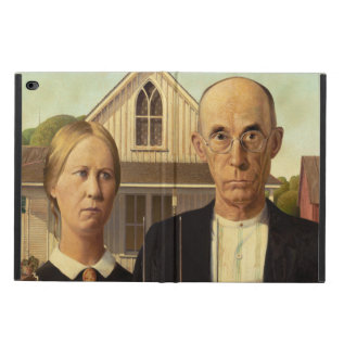Grant Wood American Gothic Fine Art Painting Powis Ipad Air 2 Case at Zazzle