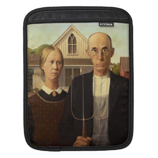 Grant Wood American Gothic Fine Art Painting Sleeve For iPads