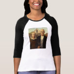 Grant Wood American Gothic Fine Art Painting Tees