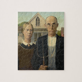 Grant Wood - American Gothic Jigsaw Puzzles