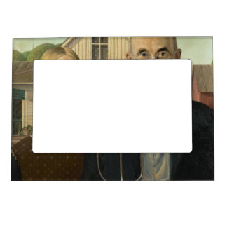 Grant Wood - American Gothic Magnetic Photo Frame
