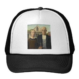 Grant Wood - American Gothic Mesh Hat
