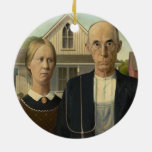 Grant Wood - American Gothic Christmas Tree Ornament