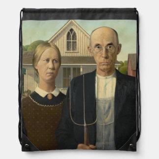 Grant Wood - American Gothic Backpacks