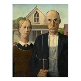 Grant Wood - American Gothic Postcard