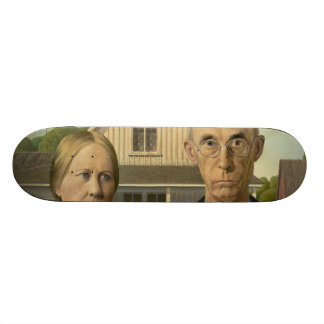Grant Wood - American Gothic Skate Boards