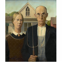 Grant Wood - American Gothic Statuette