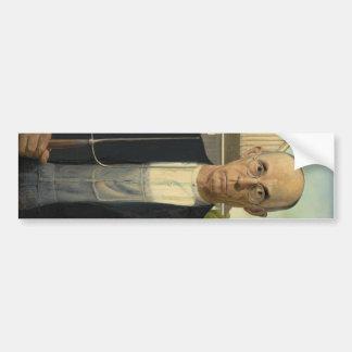 Grant Wood - gótico americano Pegatina De Parachoque