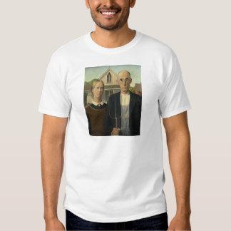 Grant Wood - gótico americano Camisas