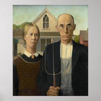 Grant Wood - gótico americano Poster