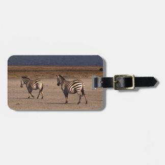 Grant Zebra Luggage Tag
