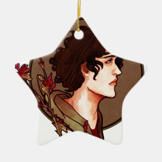 Grantaire Nouveau Double-Sided Star Ceramic Christmas Ornament