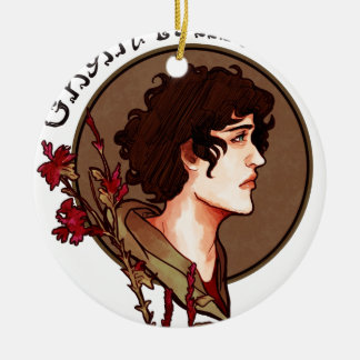 Grantaire Nouveau Double-Sided Ceramic Round Christmas Ornament