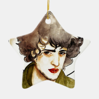 Grantaire Double-Sided Star Ceramic Christmas Ornament