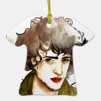 Grantaire Double-Sided T-Shirt Ceramic Christmas Ornament