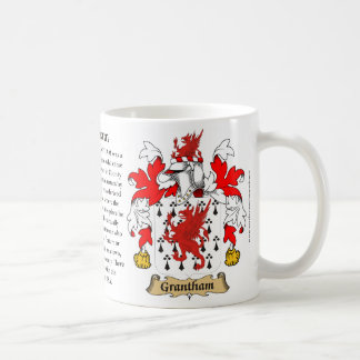 Grantham, the Origin, the Meaning and the Crest Coffee Mug