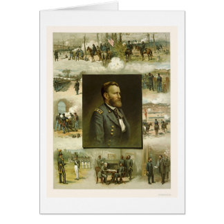 Grant's Career Scenes by L. Prang & Company 1885 Card