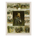 Grant's Career Scenes by L. Prang & Company 1885 Posters