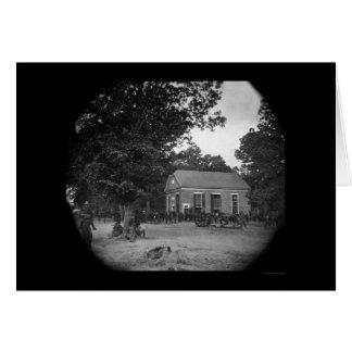 Grant's Headquarters at Massaponax Church 1864 Card