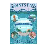 Grants Pass, OregonScenic Travel Poster Canvas Prints