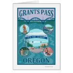 Grants Pass, OregonScenic Travel Poster Greeting Cards