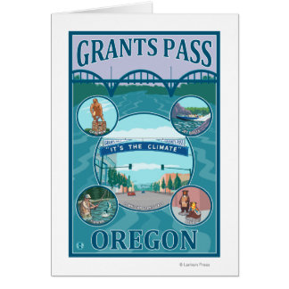 Grants Pass, OregonScenic Travel Poster Card