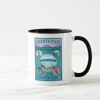 Grants Pass, OregonScenic Travel Poster Mug