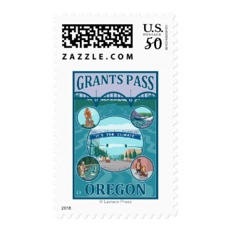 Grants Pass, OregonScenic Travel Poster Postage