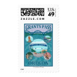 Grants Pass, OregonScenic Travel Poster Postage Stamps