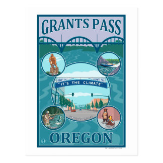 Grants Pass, OregonScenic Travel Poster Postcards