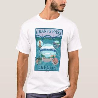 Grants Pass, OregonScenic Travel Poster T-Shirt