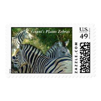 Grant's Plains Zebras Postage