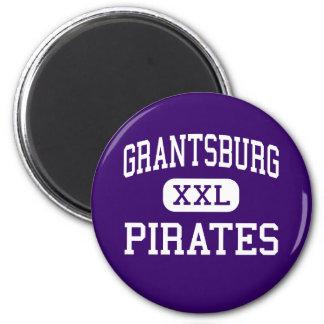 Grantsburg - piratas - alto - Grantsburg Wisconsin Imán Redondo 5 Cm