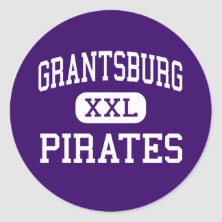 Grantsburg - piratas - alto - Grantsburg Wisconsin Pegatina Redonda