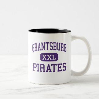 Grantsburg - piratas - alto - Grantsburg Wisconsin Taza Dos Tonos