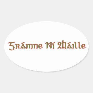 Granuaile Oval Sticker