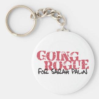 Granuja que va para Sarah Palin Llavero Redondo Tipo Pin