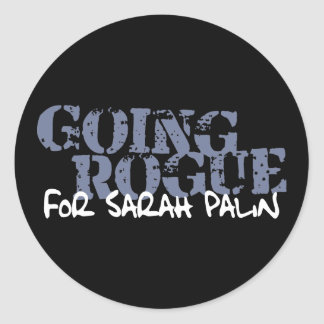 Granuja que va para Sarah Palin Pegatina Redonda