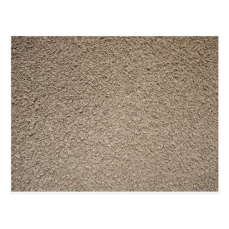Granular surface of the cement beige postcard