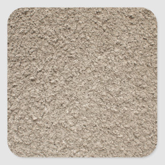 Granular surface of the cement beige square sticker
